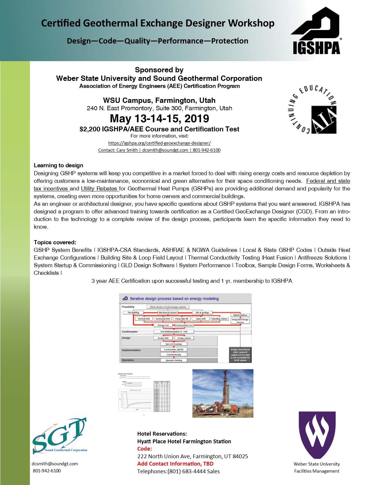 Certified Designer geothermal workshop